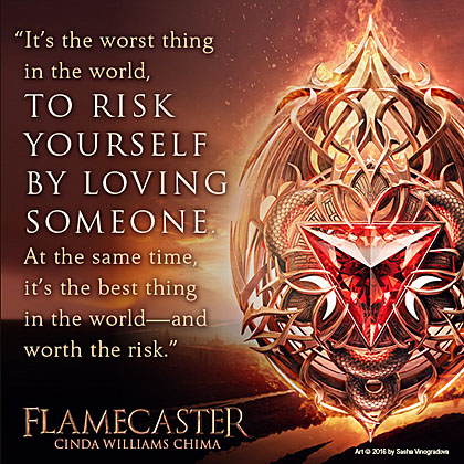 Flamecaster cover with quote 1