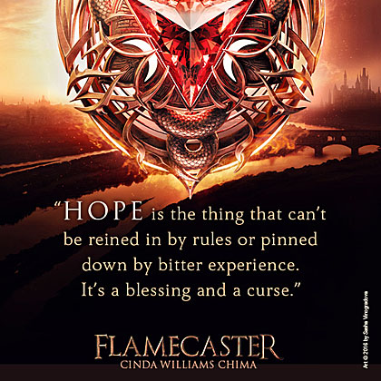 Flamecaster cover with quote 2
